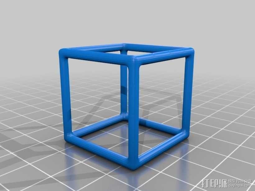 线框式正方体 3D模型  图1