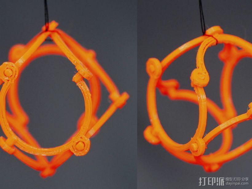 线框球 正方体 3D模型  图1