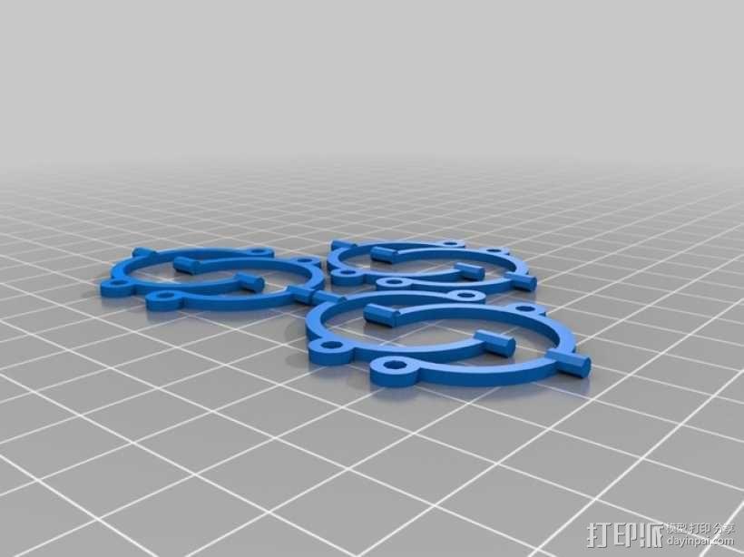 线框球 正方体 3D模型  图3