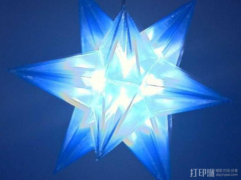 十二面体圣诞之星 3D模型  图3