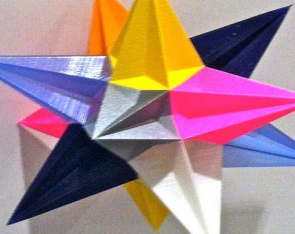 十二面体圣诞之星 3D模型  图4