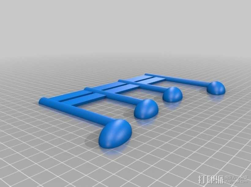 乐谱 音乐符 3D模型  图2