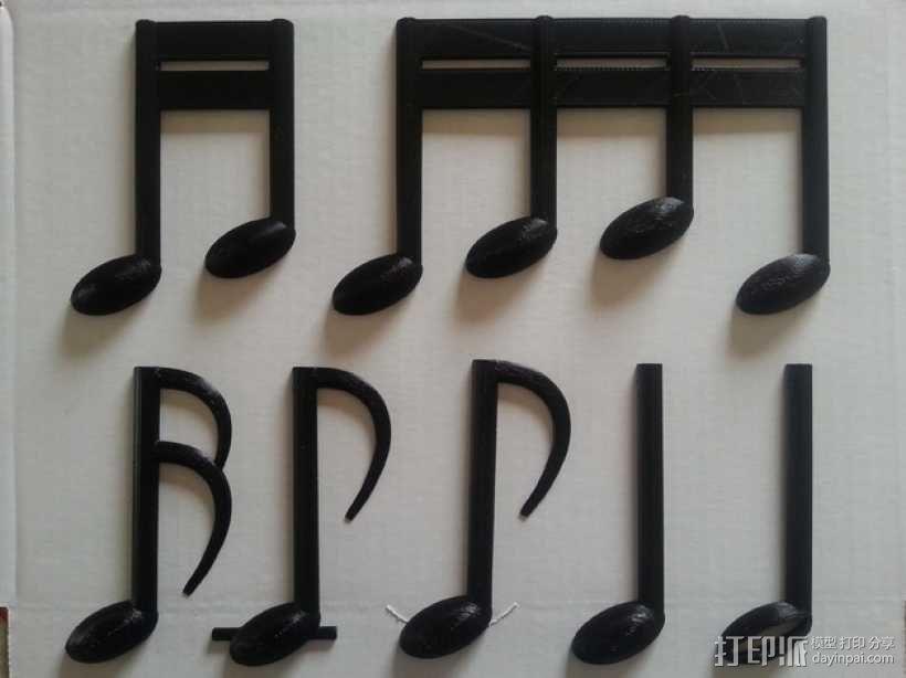 乐谱 音乐符 3D模型  图4