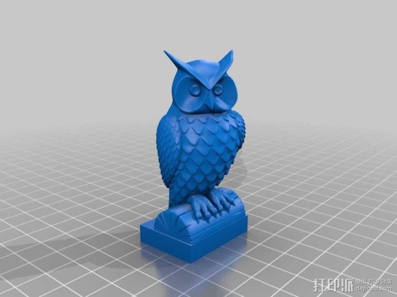 猫头鹰模型 3D模型  图2