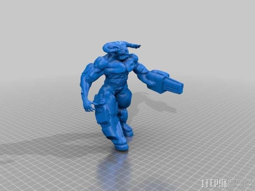 牛魔王雕塑 3D模型  图2