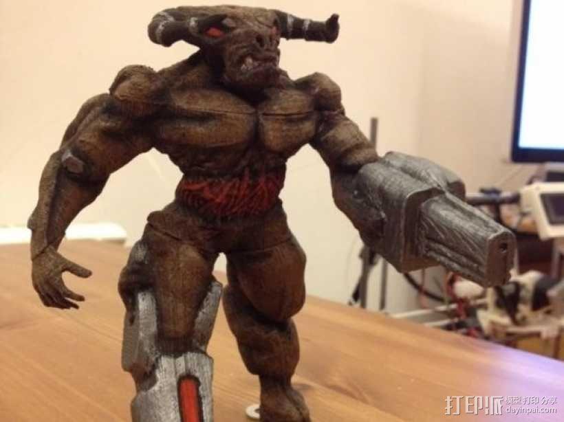 牛魔王雕塑 3D模型  图1