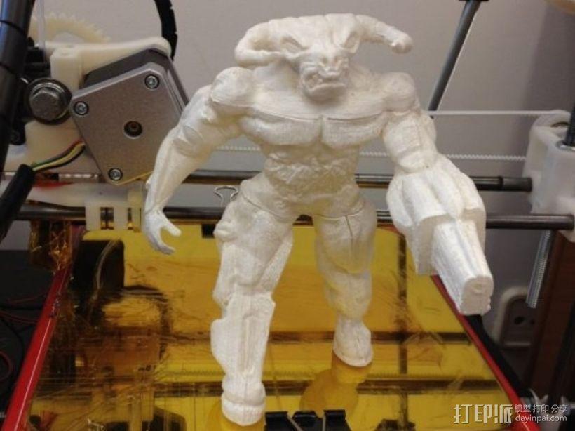 牛魔王雕塑 3D模型  图3