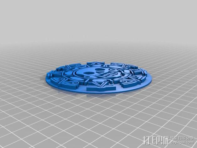 加勒比海盗标志徽章 3D模型  图2