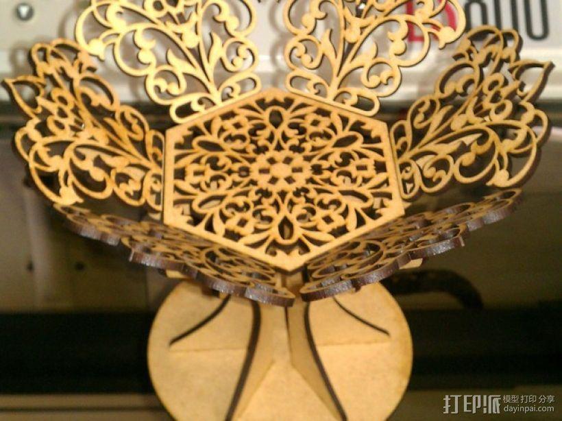 雕花托盘 3D模型  图1
