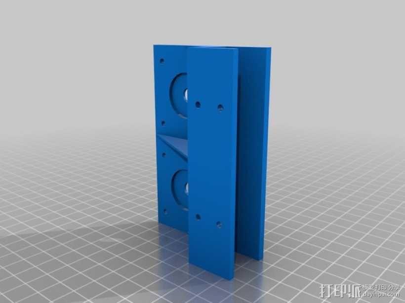 步进机支架 3D模型  图1