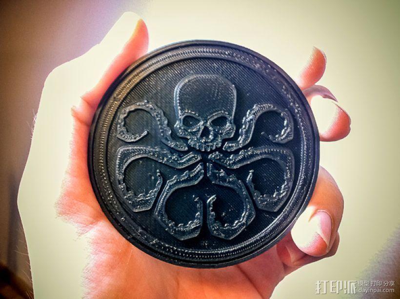 九头蛇标志徽章 3D模型  图1