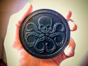 九头蛇标志徽章 3D模型