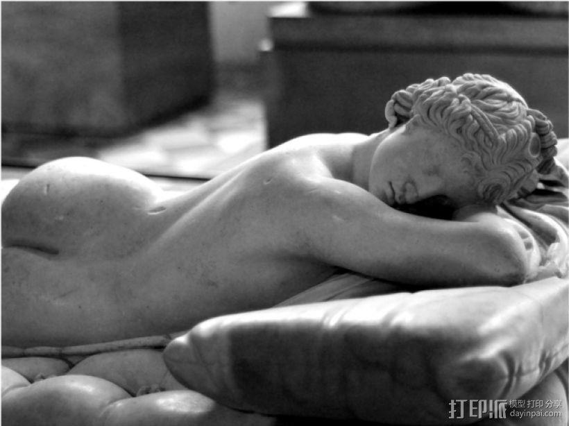 赫马佛洛狄忒斯雕像 3D模型  图1