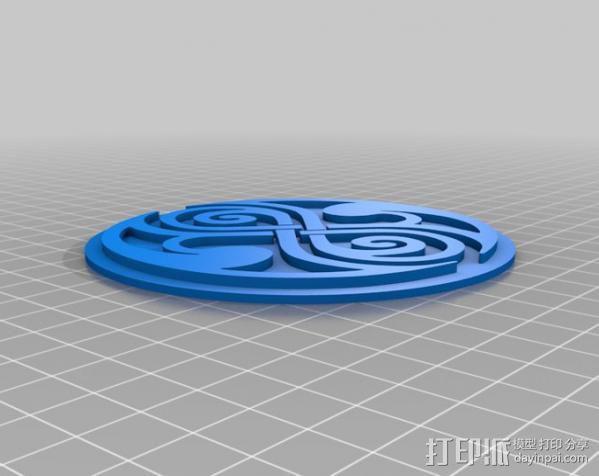 时间领主标志 3D模型  图1