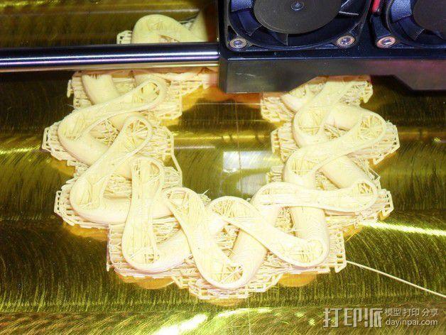凯尔特结指环 3D模型  图3