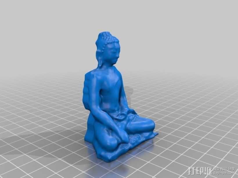 释迦牟尼佛像 3D模型  图2