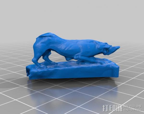 狮子大理石雕像模型 3D模型  图2