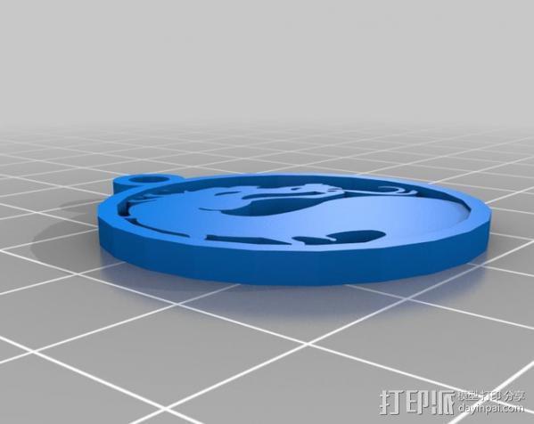 格斗之王 项链坠 3D模型  图1
