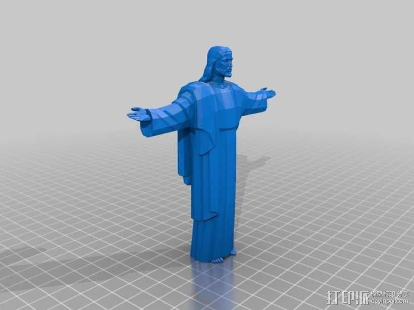 耶稣雕像 3D模型  图1