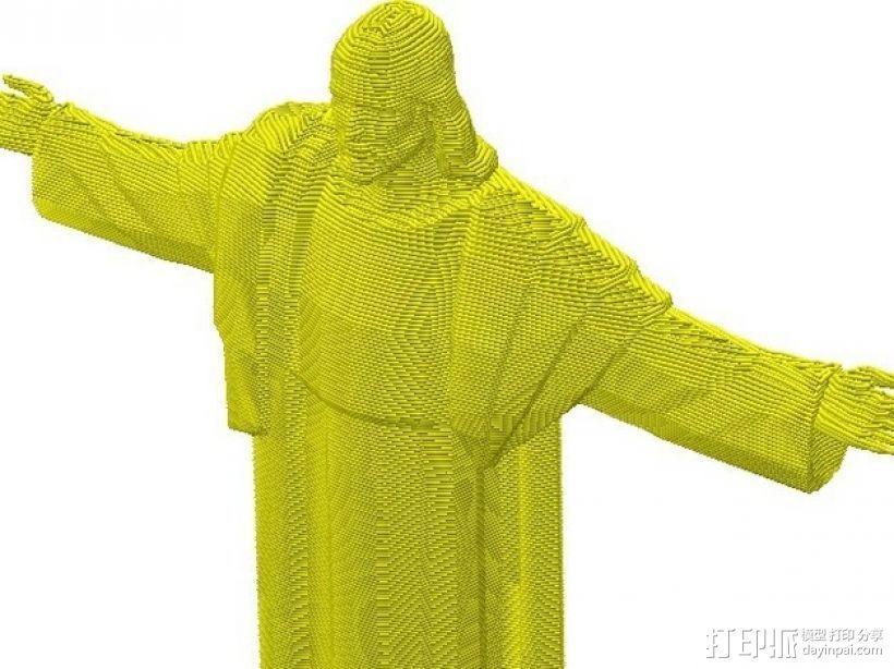 耶稣雕像 3D模型  图2