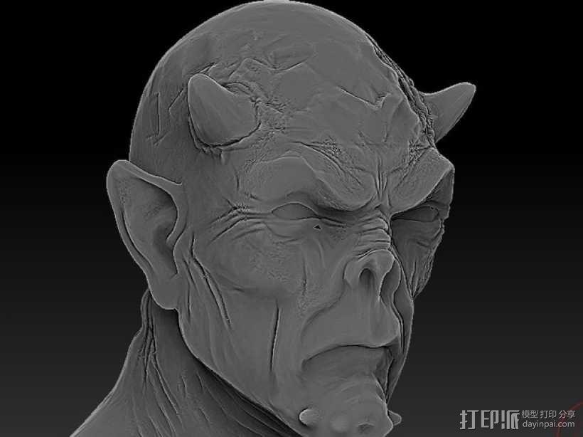 僵尸头 模型 3D模型  图1