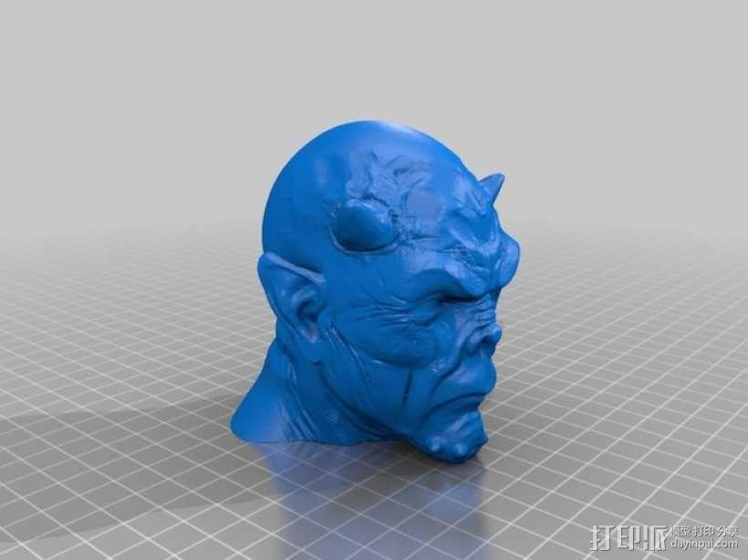 僵尸头 模型 3D模型  图2