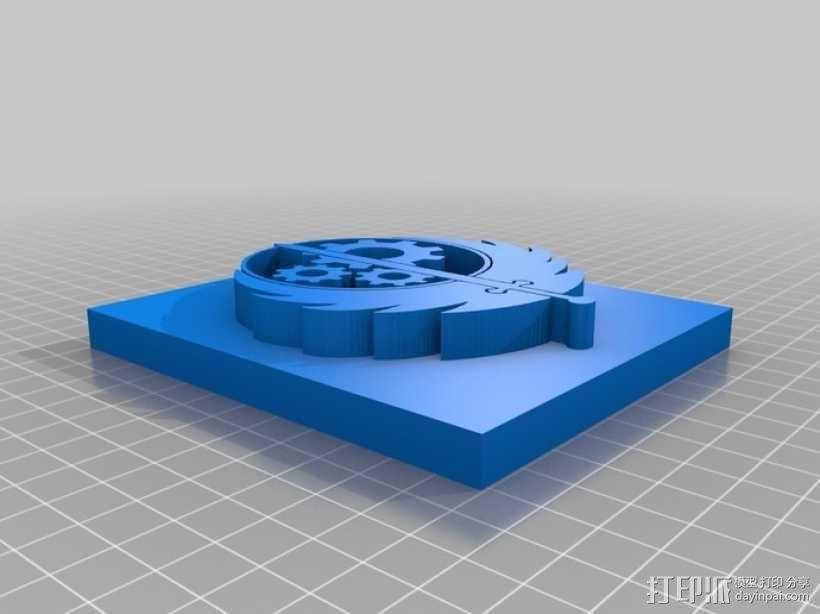 钢铁兄弟会标志 3D模型  图3