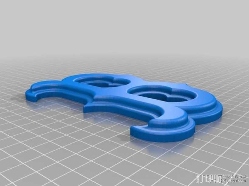 字母B 3D模型  图1
