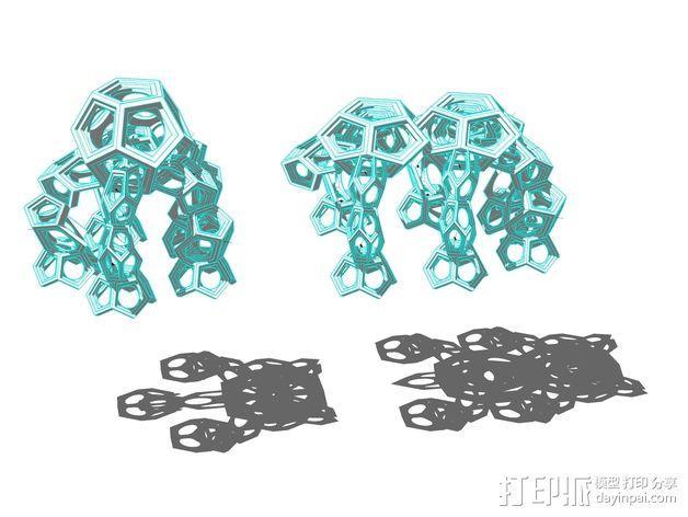十二烷模型 3D模型  图4