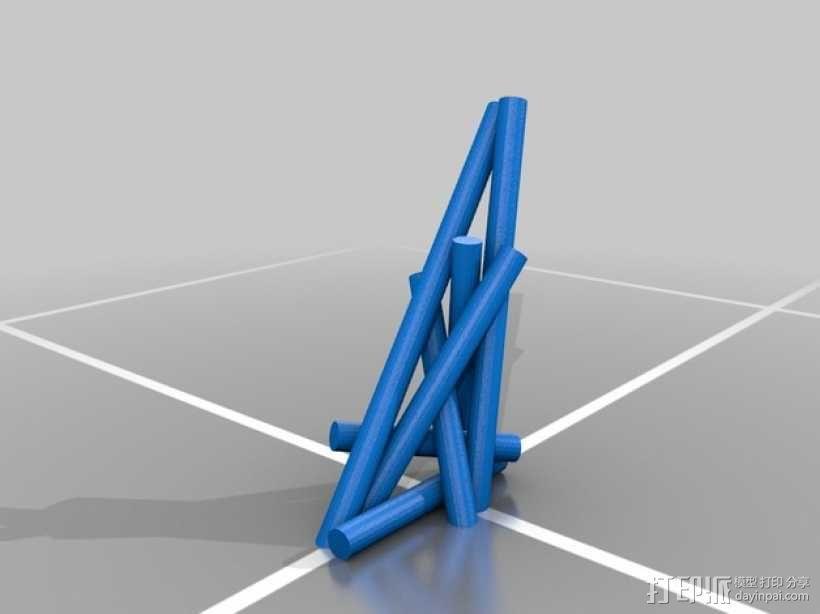 7个圆柱体 3D模型  图1