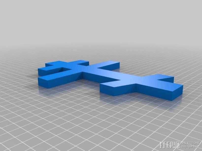 俄罗斯东正教十字架 3D模型  图1