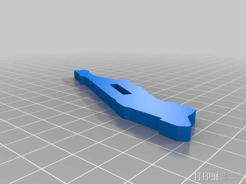 曼哈顿岛 3D打印地图模型 3D模型  图2