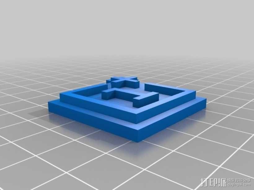 一加钥匙扣  3D模型  图2