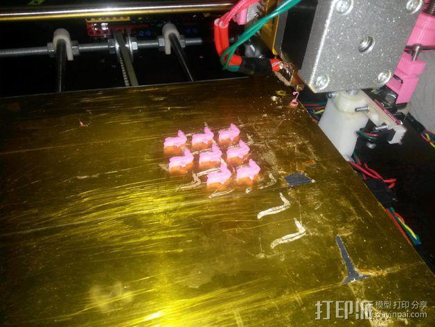 乐高火焰小部件 3D模型  图1