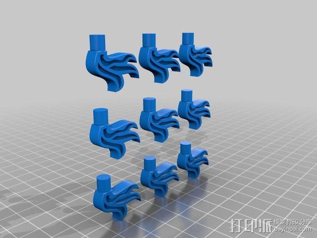 乐高火焰小部件 3D模型  图3