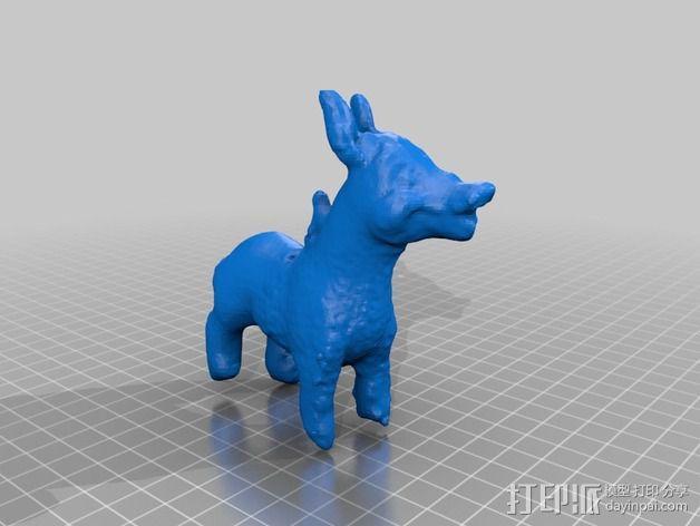 橡胶驴 3D模型  图2
