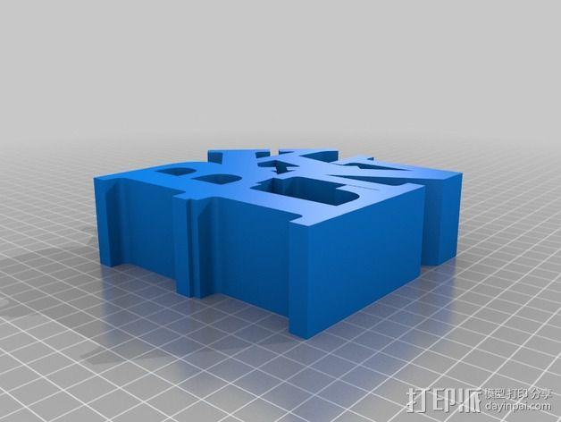 BLKN字母 3D模型  图1