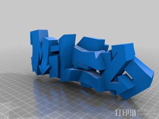 3D涂鸦模型 3D模型  图2