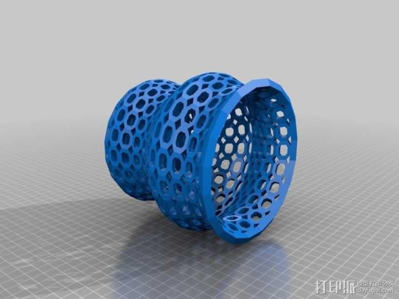 Funky 花瓶 3D模型  图1