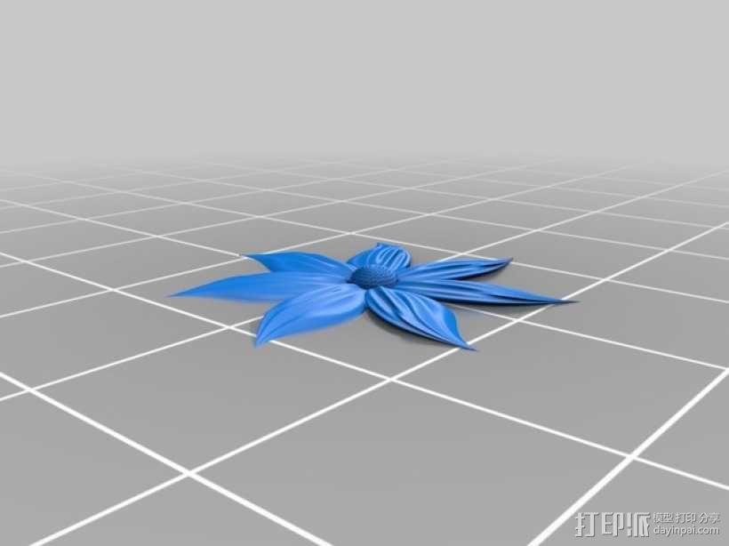 2.5D 花  模型 3D模型  图3