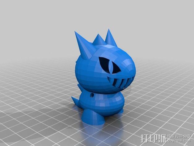 玩具恐龙 3D模型  图1