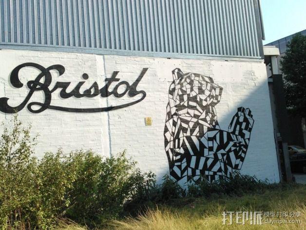 Bristol涂鸦字体 3D模型  图2
