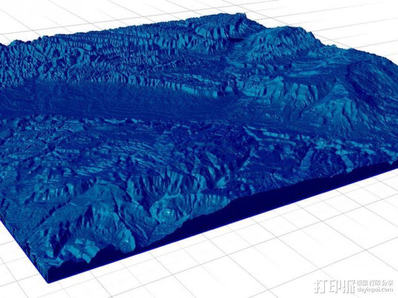 大章克申地形图模型 3D模型  图1