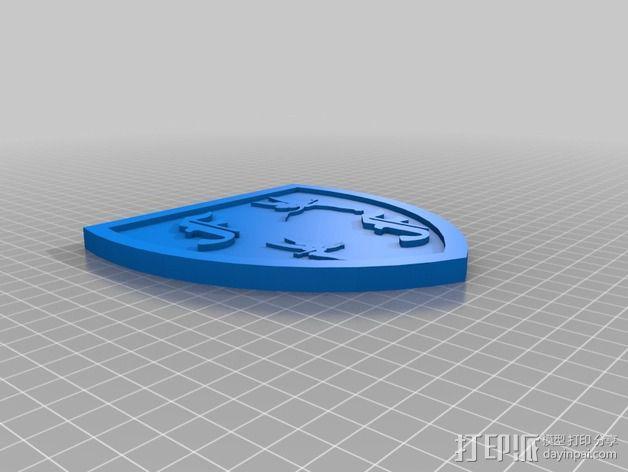 垃圾桶贴 3D模型  图2