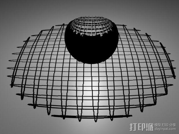 立体投影圈 3D模型  图1