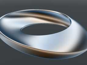 圆形的莫比乌斯带 3D模型