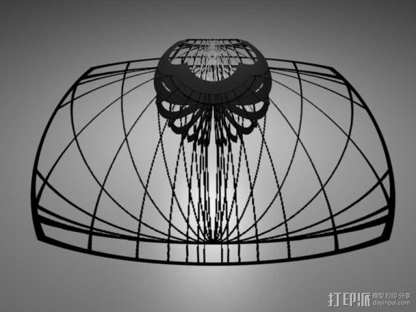 立体投影球 3D模型  图1