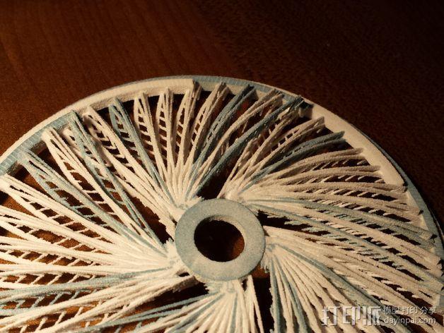 螺旋转轮 3D模型  图2