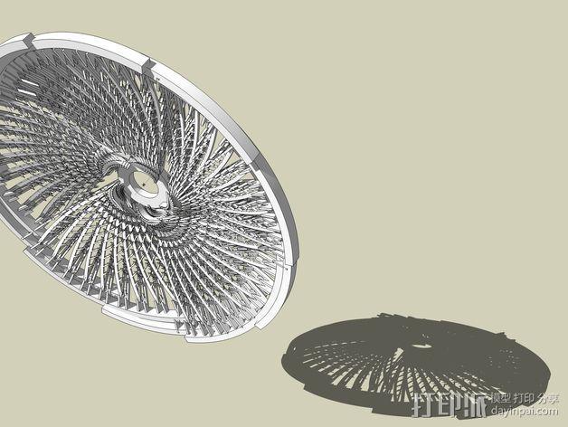 螺旋转轮 3D模型  图5