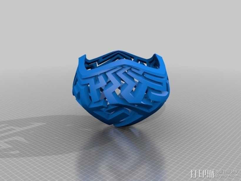 蘑菇型立体投影 3D模型  图4